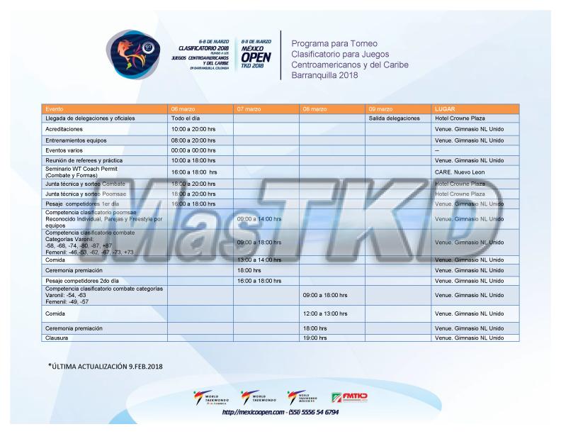 programa-torneo-clasificatorio-juegos-centroamericanos-y-del-caribe-180209-es