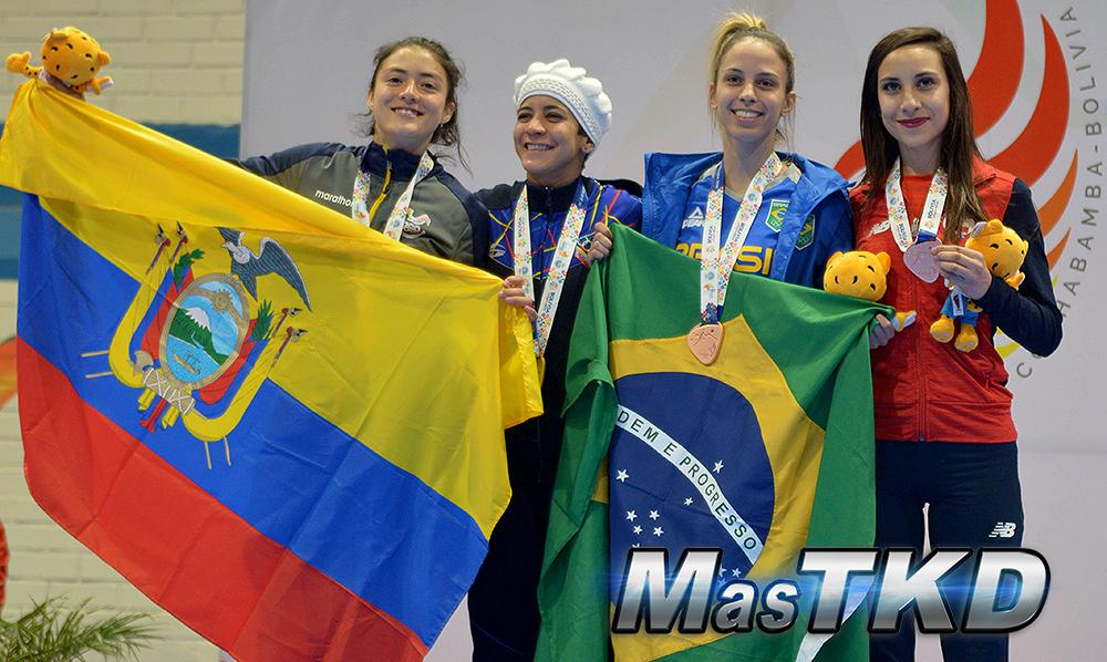 Podio-F-49_Juegos-Suramericanos_Cochabamba-2018_Taekwondo