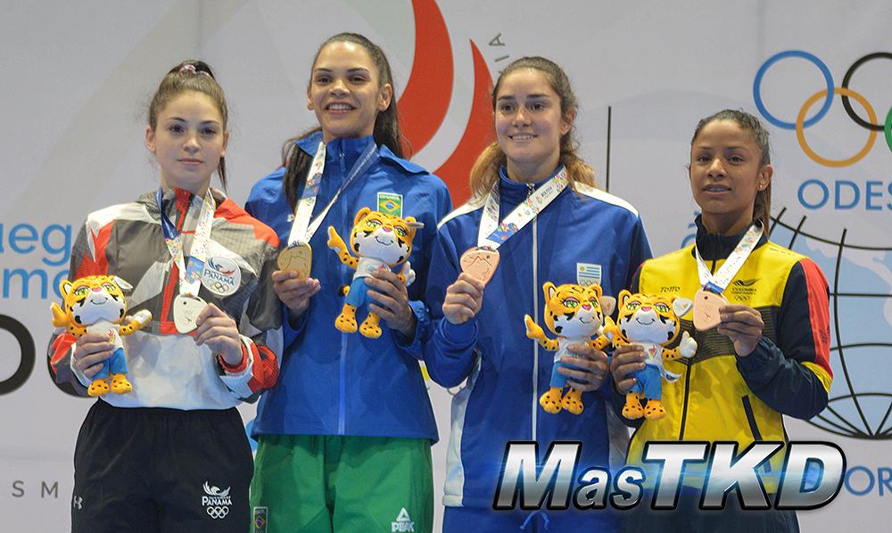 Podio-F-57_Juegos-Suramericanos_Cochabamba-2018_Taekwondo