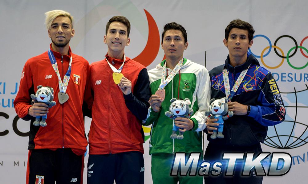 Podio-M-68_Juegos-Suramericanos_Cochabamba-2018_Taekwondo