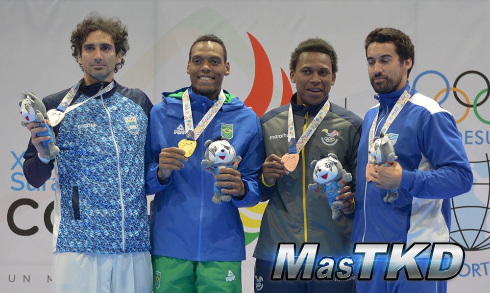 Podio-Mo80_Juegos-Suramericanos_Cochabamba-2018_Taekwondo