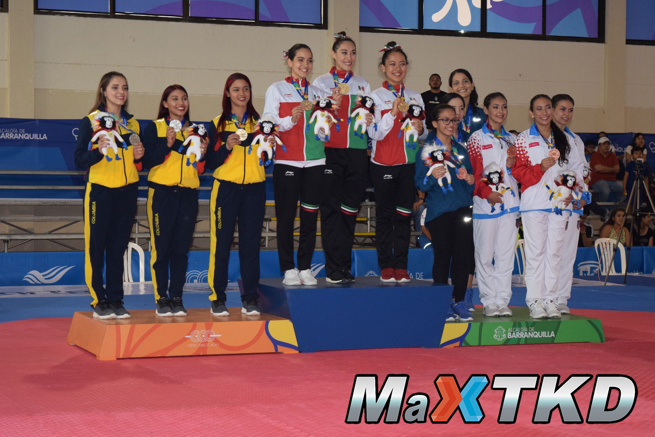 20180723_JCAC-Barranquilla2018_podio-Poomsae-Equipos-Femenino