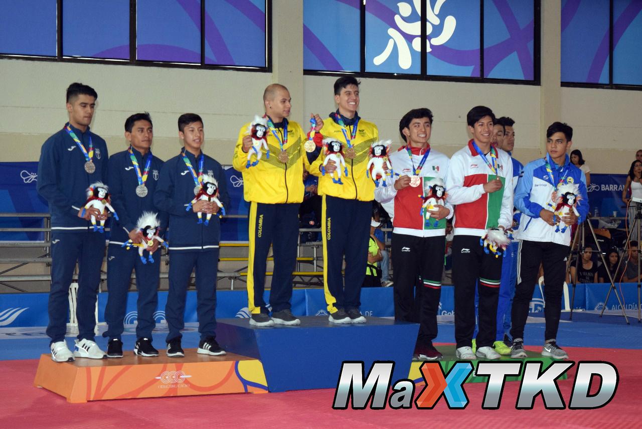 20180723_JCAC-Barranquilla2018_podio-Poomsae-Equipos-Masculino