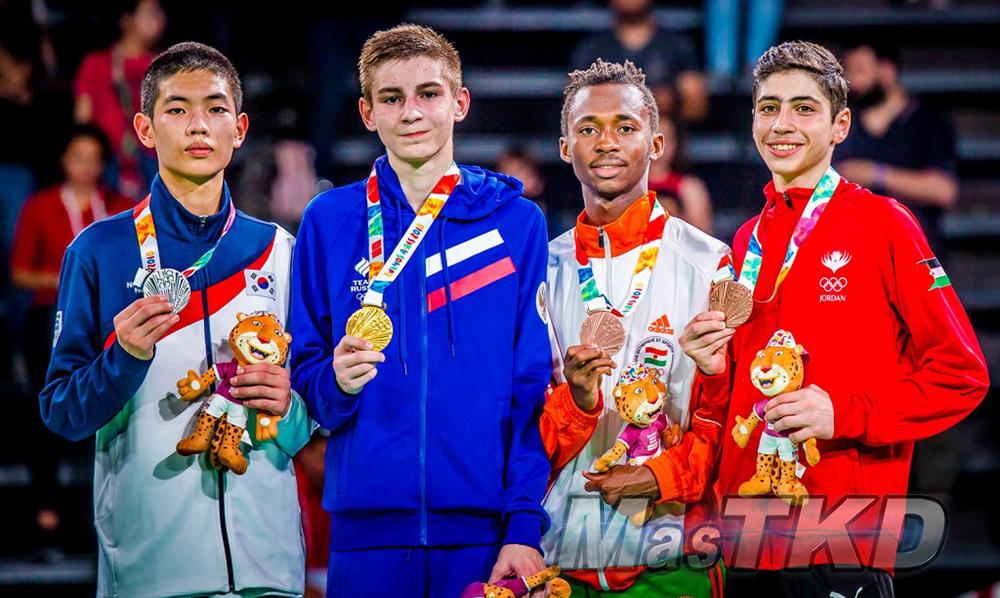 _YOG_Buenos-Aires-2018_Podio-Taekwondo_M-55_Juegos-Olimpicos-de-la-Juventud
