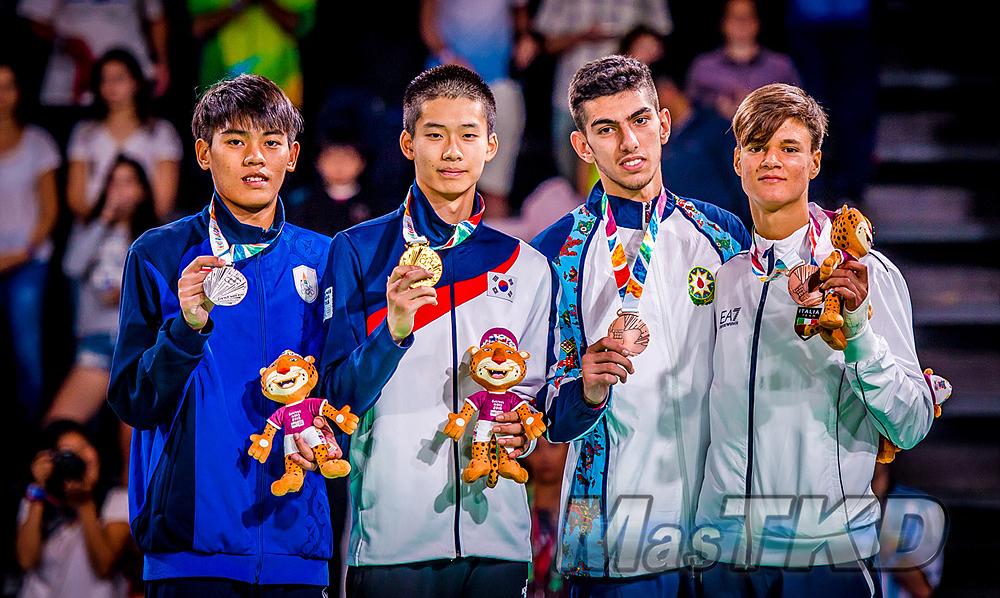 _YOG_Buenos-Aires-2018_Podio-Taekwondo_M-63_Juegos-Olimpicos-de-la-Juventud
