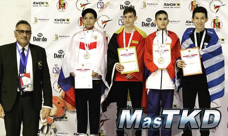 Podio_Europeo-Taekwondo-Cadete_BANTAM-Masculino_-41_Kg-