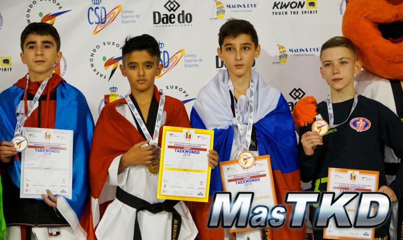 Podio_Europeo-Taekwondo-Cadete_FLY-Masculino_-37-Kg