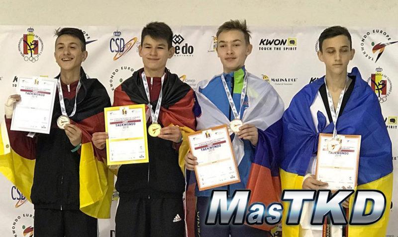 Podio_Europeo-Taekwondo-Cadete_WELTER-Masculino_-53-Kg
