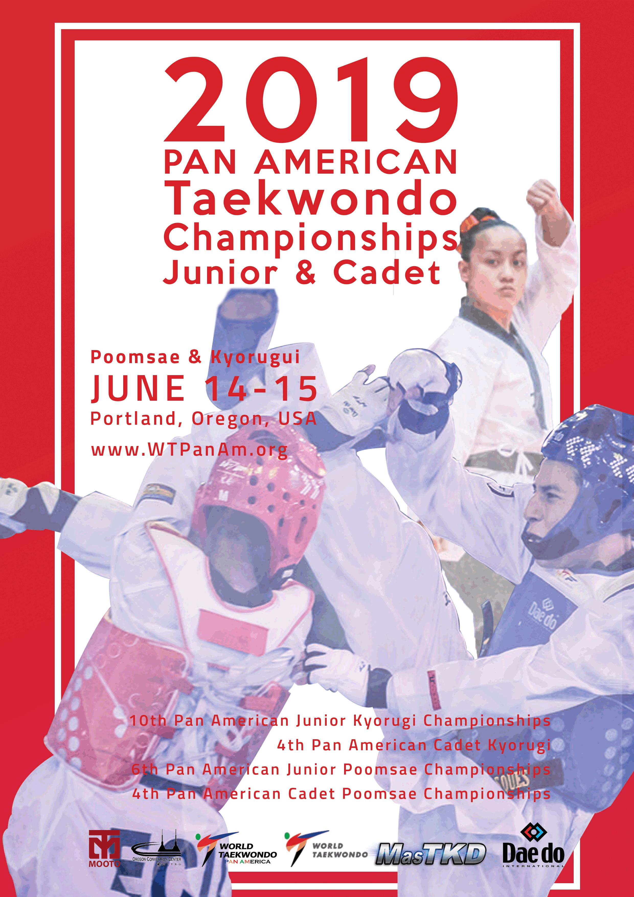 CADETE-Y-JUNIOR-PANAMERICANO Portland 2019 Taekwondo