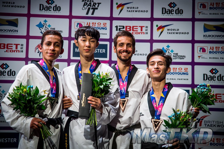 Podium_M-58_Manchester-2019-World-Taekwondo-Championships_mT