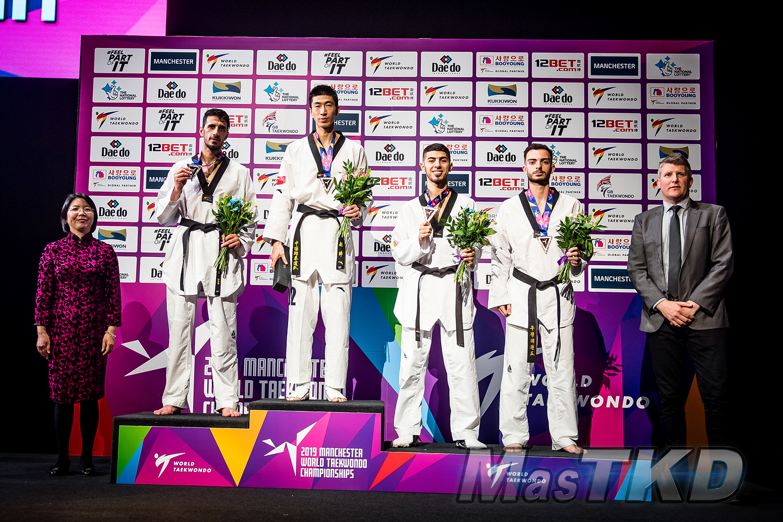 Podium_M-63_Manchester-2019-World-Taekwondo-Championships_mT-