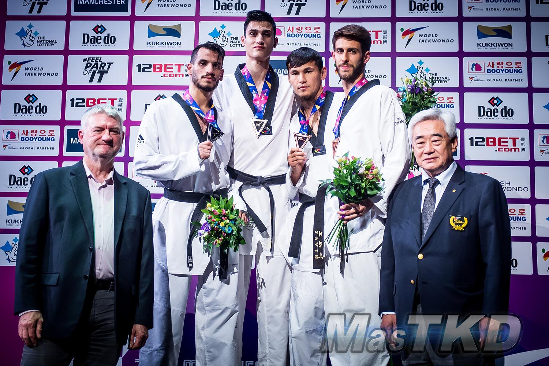 Podium_M-74_Manchester-2019-World-Taekwondo-Championships_mT-