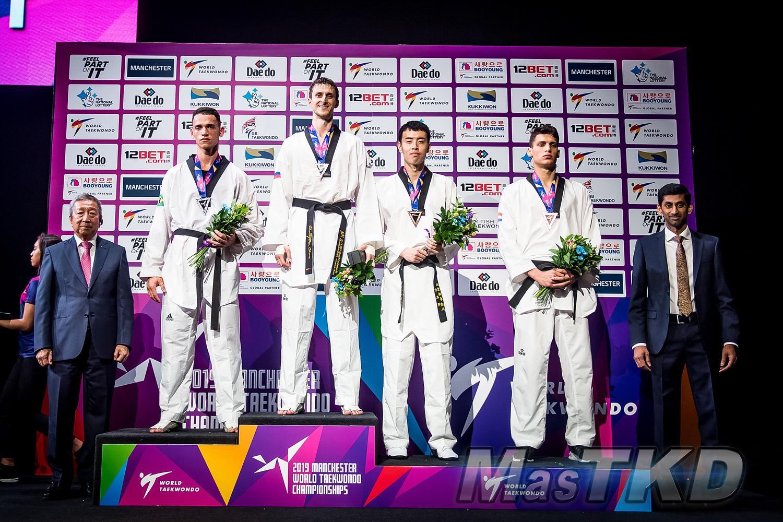 Podium_M-87_Manchester-2019-World-Taekwondo-Championships_mT-