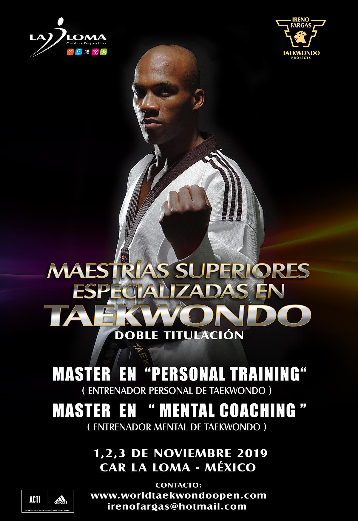 CAR La Loma presenta Maestrías Superiores Especializadas en Taekwondo