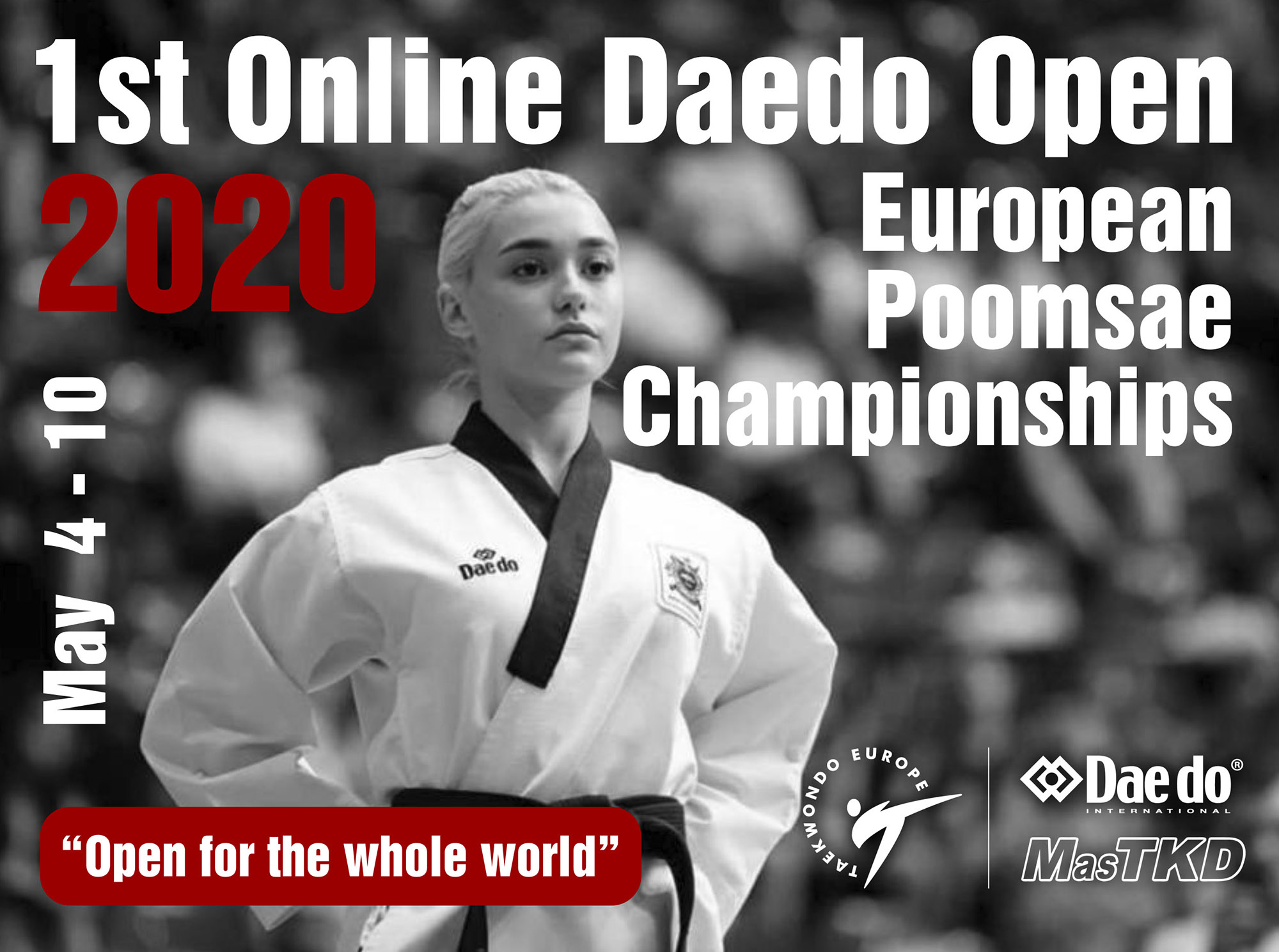 75 países formarán parte del 1st. Online European Poomsae Championships