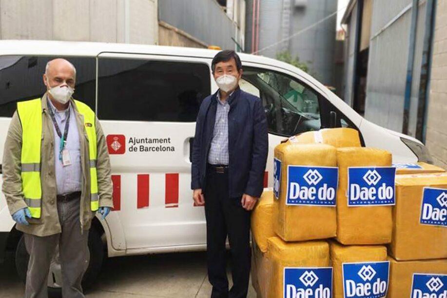Daedo donó casi 50.000 mascarillas y 1.500 equipos de protección médica