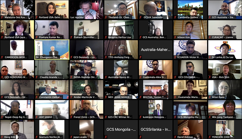 The annual GCS International Convention, which took place at the World Taekwondo headquarters, drew about 60 representatives from about 40 GCS national chapters around the world via Zoom platform, past December 4, 2020.
