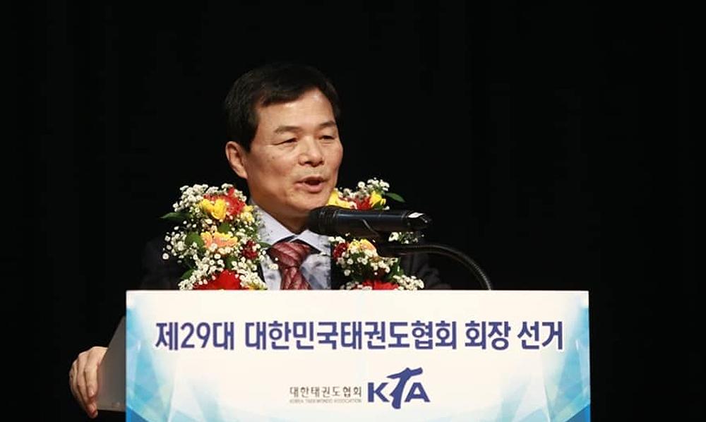 Jin-bang Yang elected president of the Korea Taekwondo Association