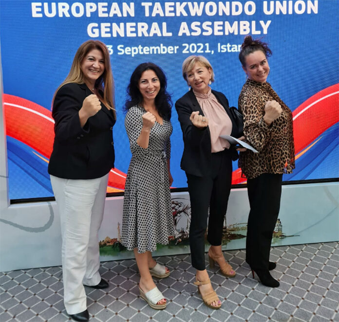 Four women completed the European Taekwondo Union for new administration term