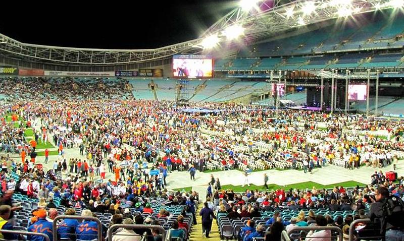 Ceremonia Inaugural de los pasados Juegos realizados en Sídney en 2009.