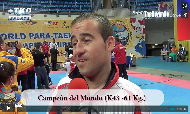 Alex Vidal (ESP) atleta de Para-Taekwondo