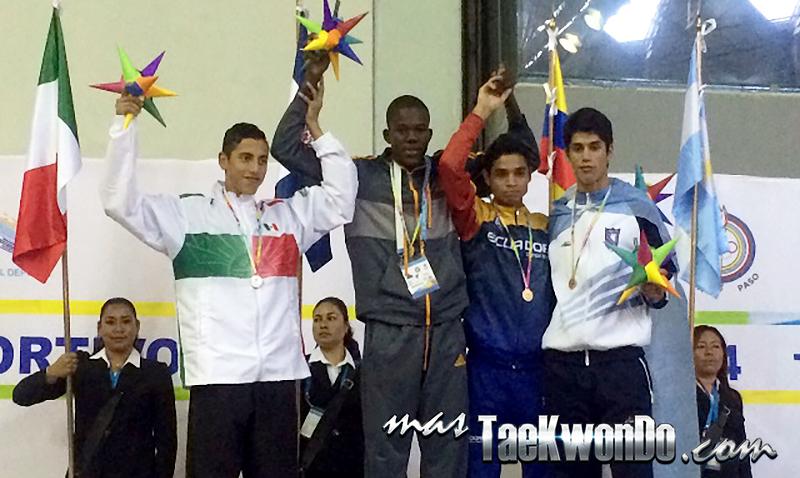 Festival Olímpico Deportivo Panamericano de Taekwondo, Podio sub21 M-58