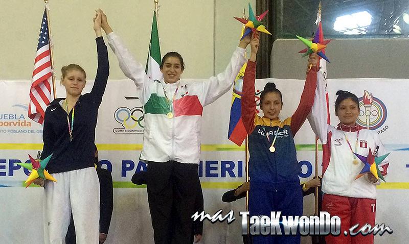 Festival Olímpico Deportivo Panamericano de Taekwondo, Podio sub21 F-67