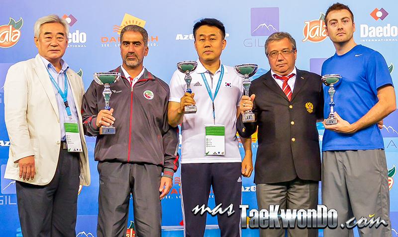1st WTF World Cadet Taekwondo Championships, Podio Gral. Masculino