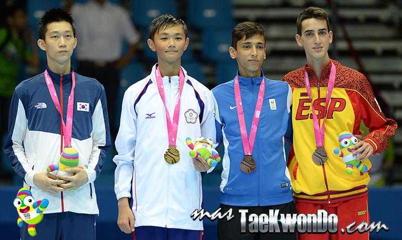 Podio Taekwondo Nanjing 2014 M-55 (18-08-14)