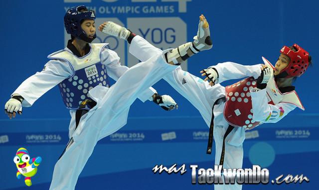 Eshaghi Mahdi (IRI) Oro en Taekwondo M-48 Kg.
