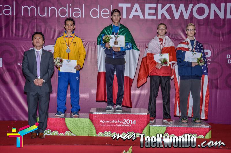 Podio Panamericano 2014, FIN Masculino -54 Kg.