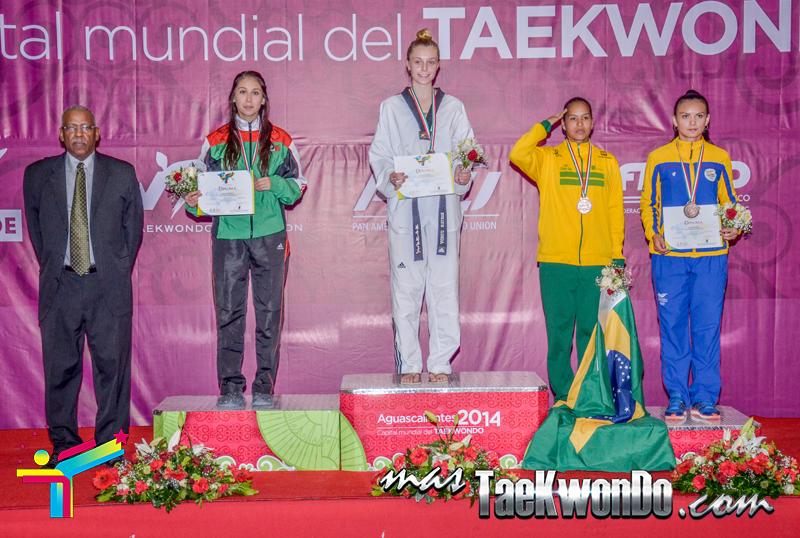 Podio Panamericano, FEATHER Femenino -57 Kg.