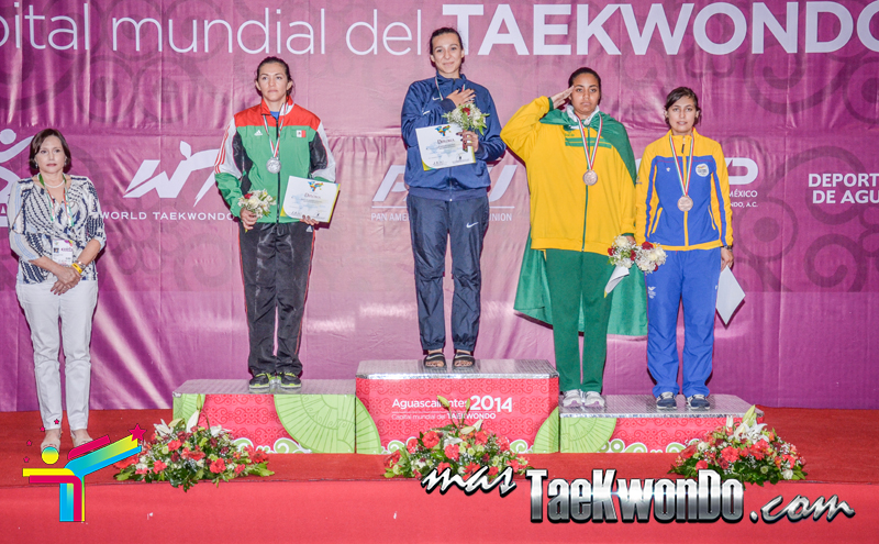 Podio Panamericano, MIDDLE Femenino -73 Kg.