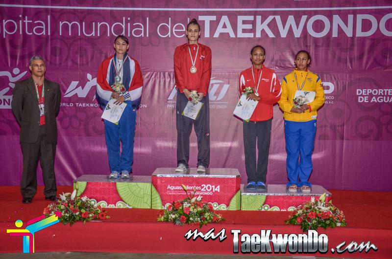 Podio Panamericano G4 D3,  WELTER Femenino -67 Kg.