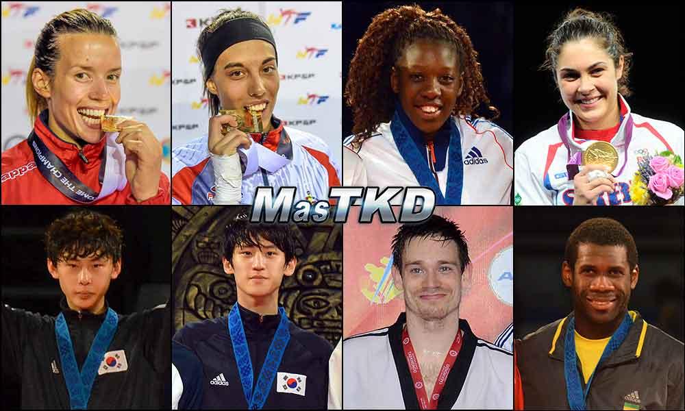 Números 1 – WTF World Olympic Ranking – Taekwondo WTF – Noviembre 2014