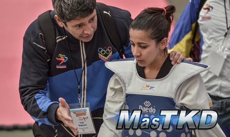 Luis Noguera (Entrenador de la Selección Nacional de Venezuela) junto a Virginia Dellan (F-49).