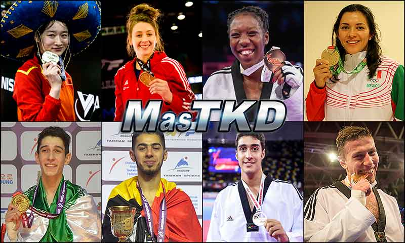 Top 16º del WTF Olympic Ranking, Julio 2016