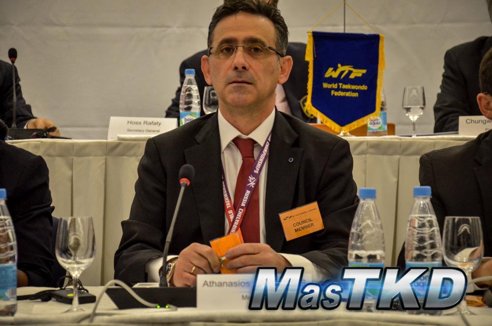 Sakis Pragalos, presidente de la Unión Europea de Taekwondo
