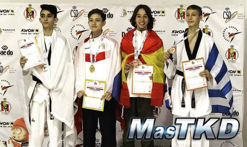 Podio_Europeo-Taekwondo-Cadete_FEATHER-Masculino_-45-Kg-