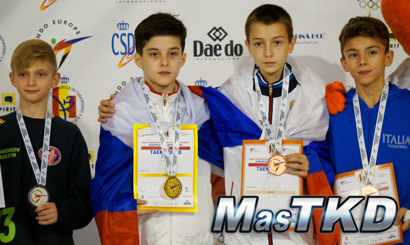 Podio_Europeo-Taekwondo-Cadete_FIN-Masculino_-33-Kg