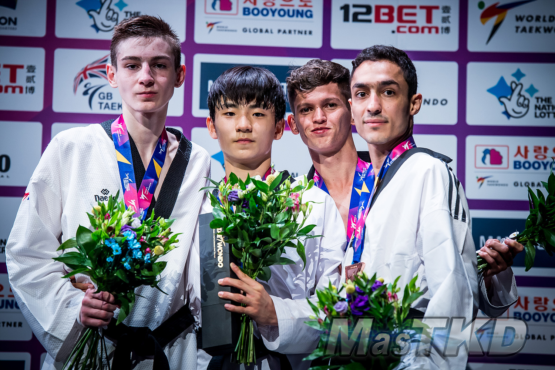 Podium_M-54_Manchester-2019-World-Taekwondo-Championships_mT