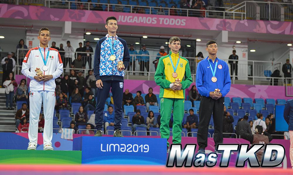 Podio-Kyorugi-FLY-Masculino-58kg_Taekwondo-Juegos-Panamericanos-Lima-2019