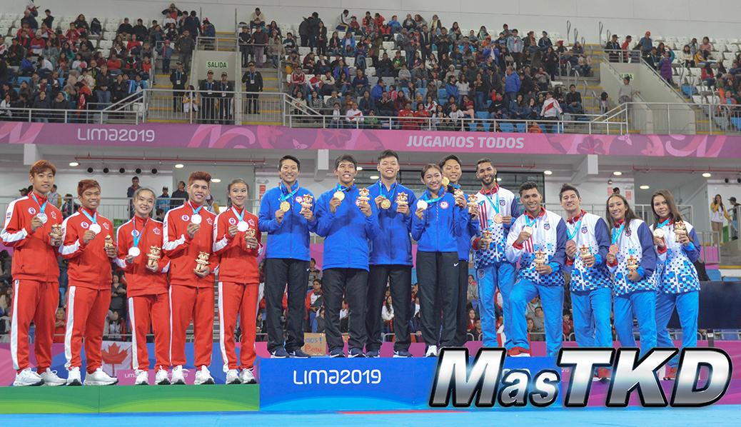 20190728_Podio-Poomsae-Pares-Mixtos_Taekwondo-Juegos-Panamericanos-Lima-2019