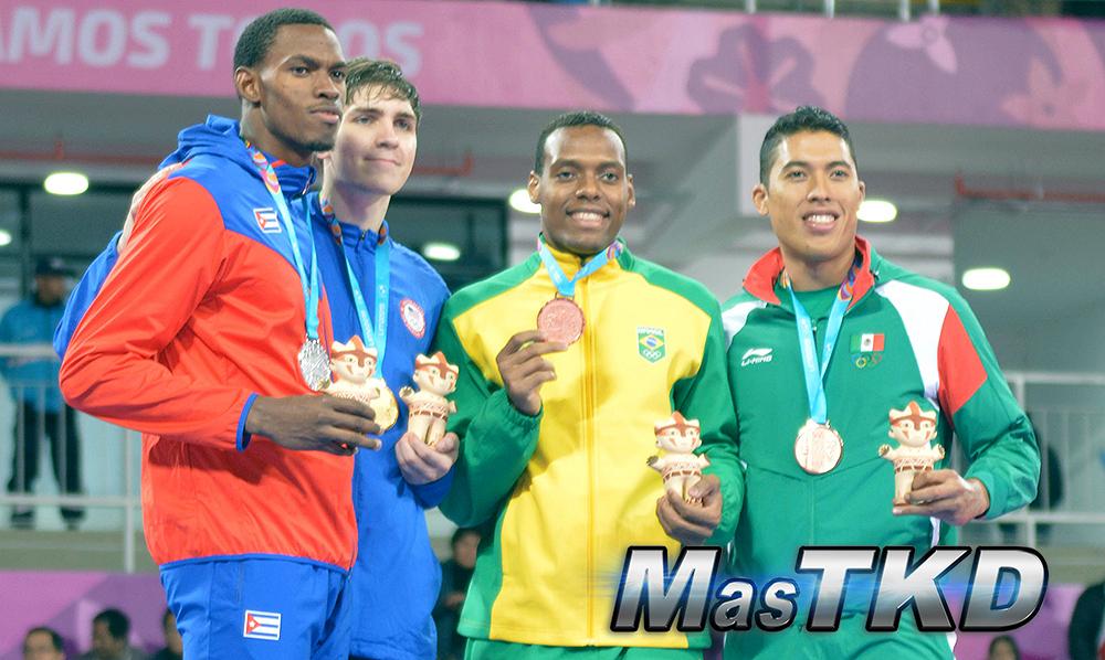 Podio-Kyorugi-HEAVY-MasculinoO80kg_Taekwondo-Juegos-Panamericanos-Lima-2019