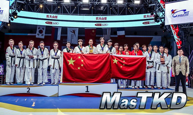 Podio_Equipo-Femenino_Wuxi-2019-WT-World-Cup-Team-Championships