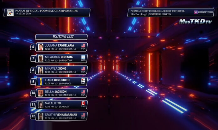 2020 Pan Am Official Poomsae Championships